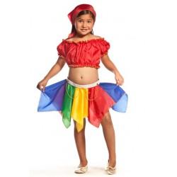 Fantasia Infantil Cigana Meninas Halloween Carnaval