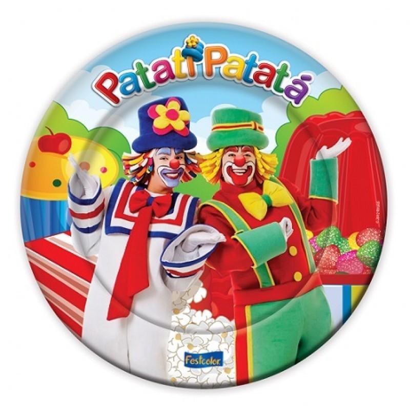 Prato Descartável Patati Patatá Festa Infantil 8un