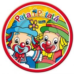 Pratinho Descartável Patati Patatá Desenho Festa Infantil 8un