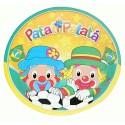 Pratinho Descartável Patati Patatá Festa Infantil Desenho 8un