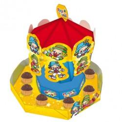 Carrosel Patati Patata Porta Doces e Cupcakes Enfeite Festa Infantil 1un