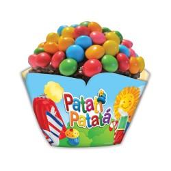 Wrapper Forminha Cupcake Patati Patata Festa Infantil 12un