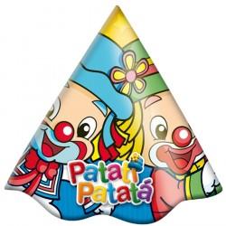 Chapeuzinho de Aniversário Patati Patata Festa Infantil 12un