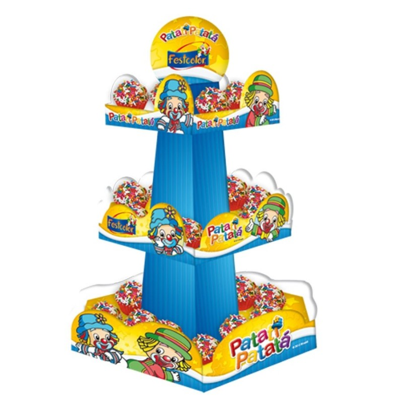 Suporte para Doce Cupcake Bala Patati Patata Festa Infantil