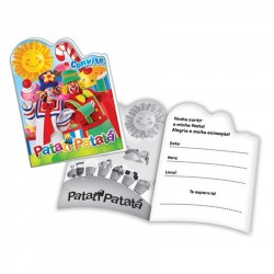 Convite de Aniversário Patati Patata Festa Infantil 24un