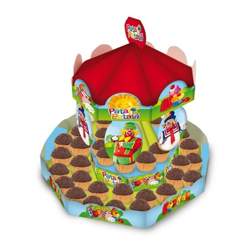 Enfeite de Mesa porta Doces Circo Festa Infantil Carrosel