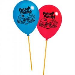 Balão Látex Patati Patata para Festa Infantil 24un
