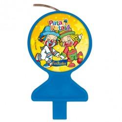 Vela para Bolo Patati Patata Azul para Festa Infantil