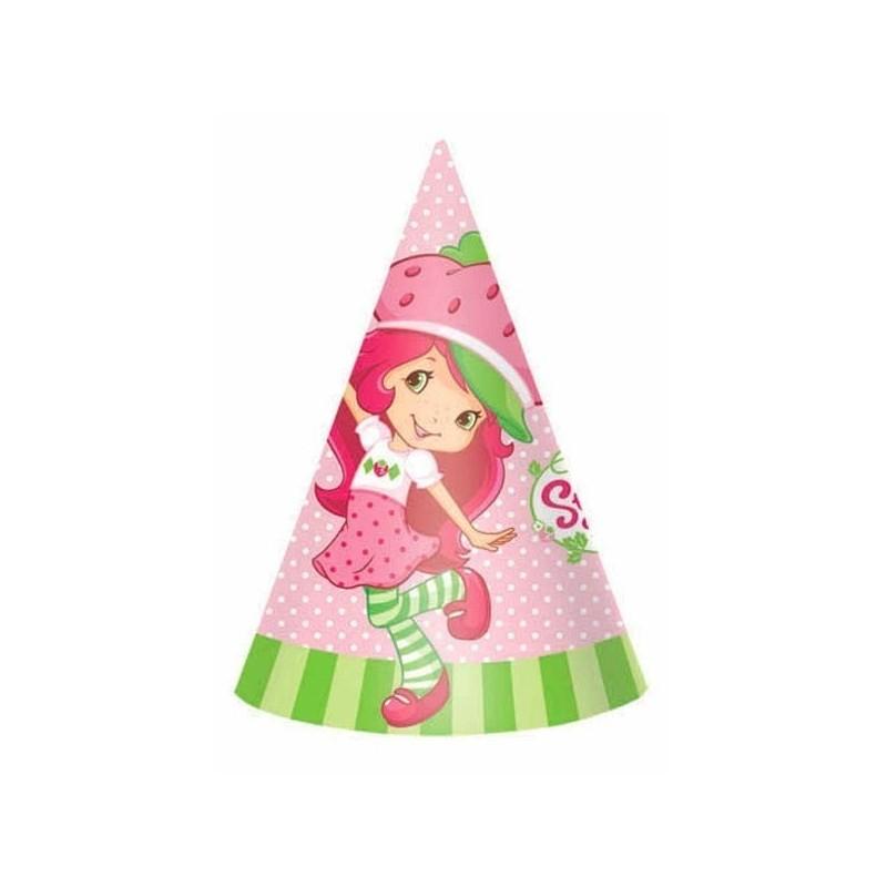Chapeuzinho de Aniversário Moranguinho 24un Festa Infantil