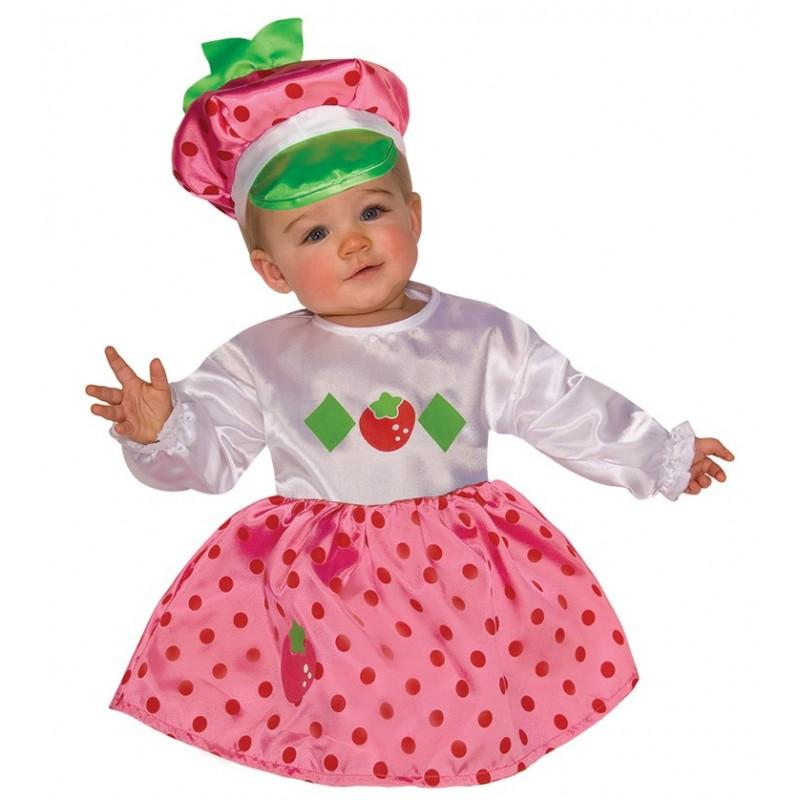 Fantasia Infantil Babês Meninas Moranguinho