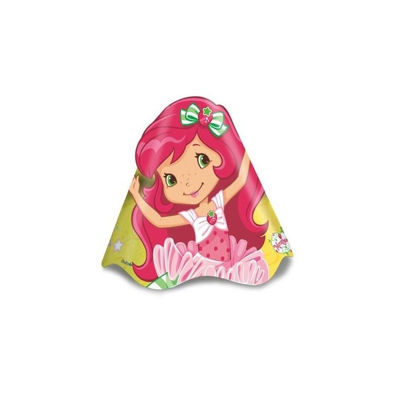 Chapéu de Aniversário Moranguinho Infantil 8un