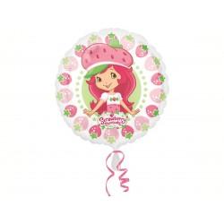 Balão Metalizado Decorativo Moranguinho Redondo