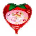 Balão Metalizado Coração Decorativo da Moranguinho
