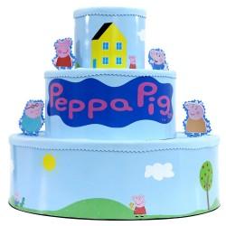 Bolo Fake Cenográfico Decorativo Peppa Pig