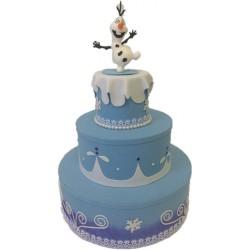 Bolo Decorativo Cenográfico Fake Olaf Frozen