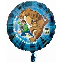Balão Metalizado Ben 10 Decorativo Redondo