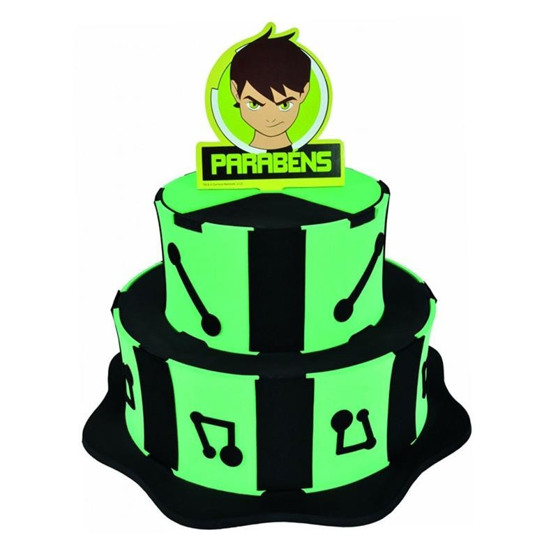 Bolo Fake Cenográfico EVA Decorativo do Ben 10