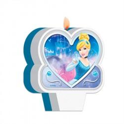 Vela Plana Princesa Cinderela Azul