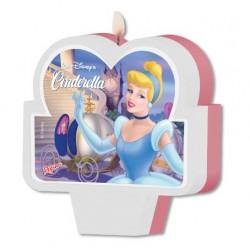 Vela Plana Princesa Cinderela Rosa