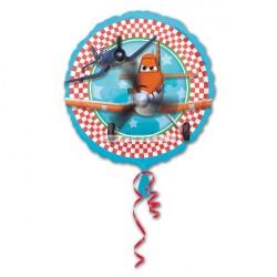 Balão Metalizado Disney Aviões Decorativo Redondo