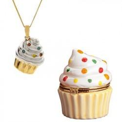 Pingente Profissões Confeiteira Cupcake Dourado