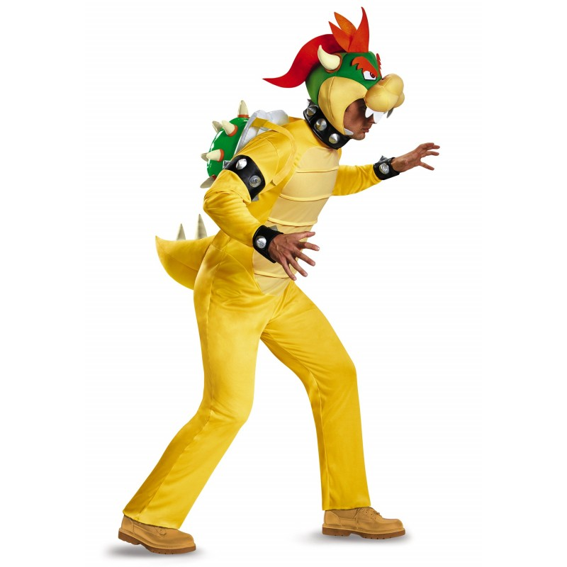 Fantasia Bowser Super Mario World Masculina Adulto Halloween Carnaval