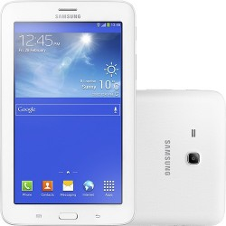 "Tablet Samsung Galaxy Tab 3 Lite T111M 8GB Wi-fi + 3G Tela TFT HD 7"" Android 4.2 Dual-core 1.2 GHz - Branco"