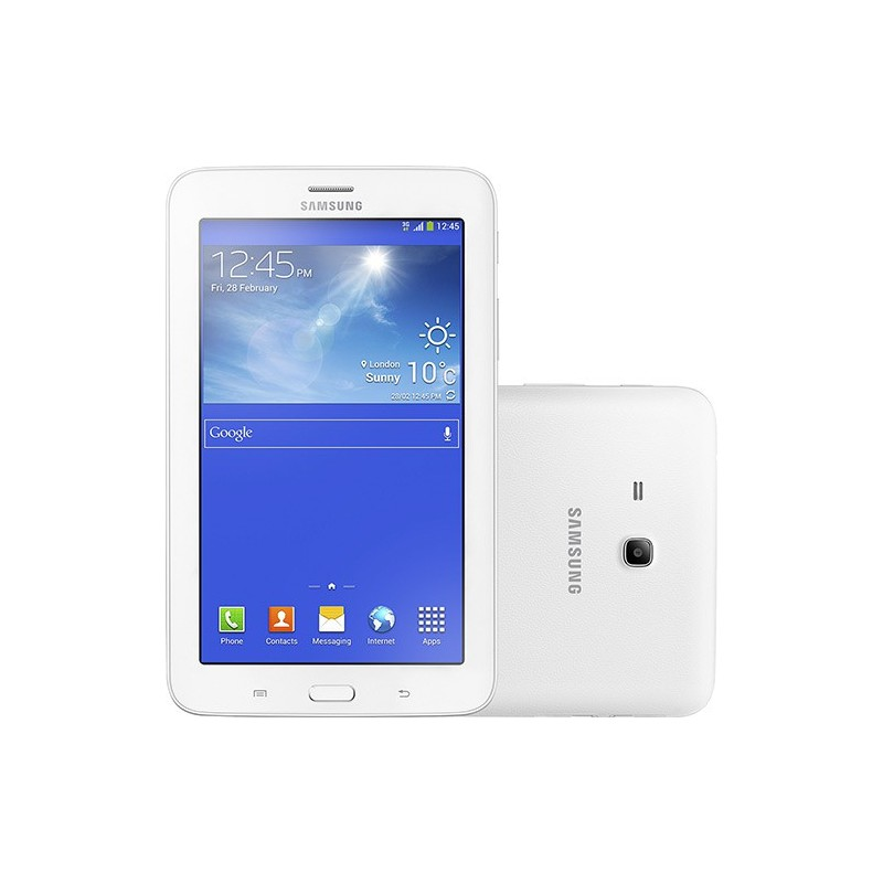 "Tablet Samsung Galaxy Tab 3 Lite T111M 8GB Wi-fi + 3G Tela TFT HD 7"" Android 4.2 Dual-core 1.2 GHz - Branco"