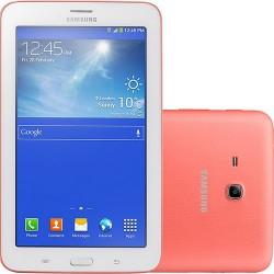 "Tablet Samsung Galaxy Tab 3 Lite T110N 8GB Tela TFT HD 7"" Android 4.2 Dual-core 1.2 GHz - Rosa"