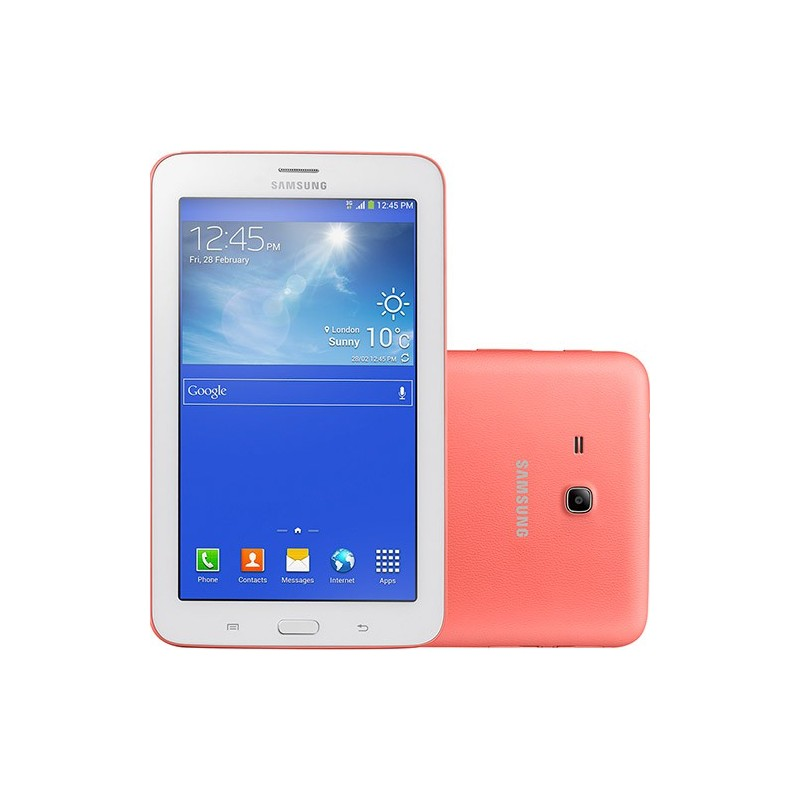 "Tablet Samsung Galaxy Tab 3 Lite T110N 8GB Tela TFT HD 7"" Android 4.2 Dual-core 1.2 GHz - Rosa"