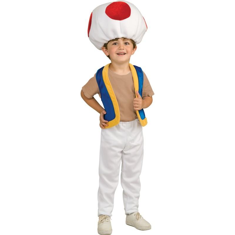 Fantasia Infantil Toad Super Mario Festa Halloween