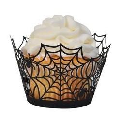 Wrapper Forminha para Cupcake Teia de Aranha Halloween 24un