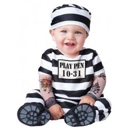 Fantasia Infantil Prisioneiro Meninos Festa Halloween