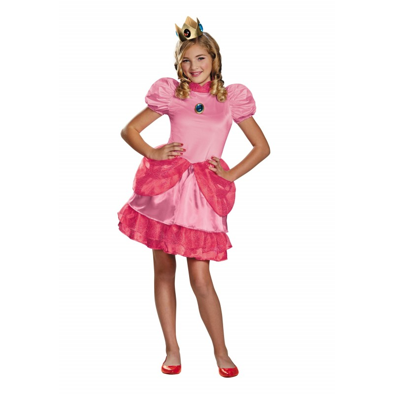 Fantasia Infantil Princesa Peach Super Mario World Halloween