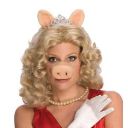 Peruca Feminina Miss Piggy Os Muppets Festa Carnaval Halloween