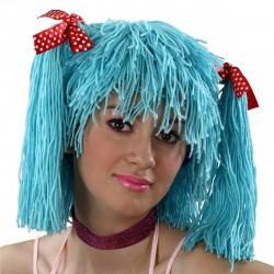 Peruca Feminina Boneca de Pano Carnaval Halloween