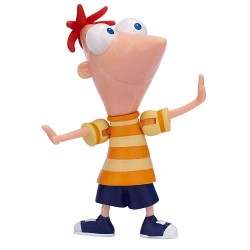 Bonecos Phineas e Ferb com acessórios Cena de Ação