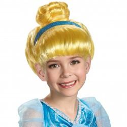 Peruca Infantil Princesa Cinderela Festa Carnaval Halloween