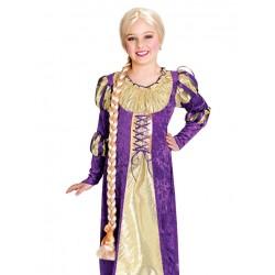 Peruca Infantil Princesa Rapunzel Festa Carnaval Halloween