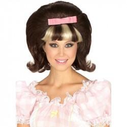 Peruca Feminina Anos 60 Adulta Halloween Carnaval