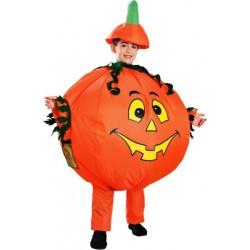 Fantasia Infantil Abóbora Festa Halloween Carnaval