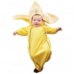 Fantasia Infantil Banana para Bebês Festa Halloween Carnaval
