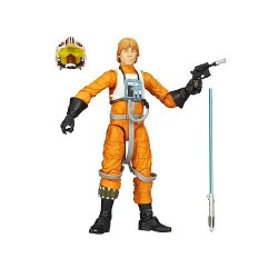 Boneco Star Wars Black Series Personagem Luke Skywalker Roupa de Piloto