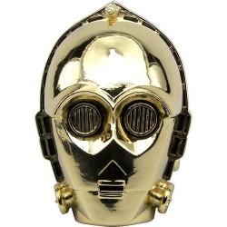Máscara C3PO Star Wars Guerra nas Estrelas Carnaval Halloween