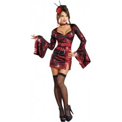 Fantasia Feminina Japonesa Gueixa Sexy Festa Carnaval Halloween