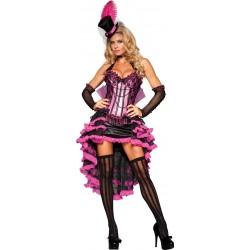 Fantasia Feminina Dançarina Burlesca Luxo Cabaret Halloween Carnaval