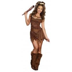 Fantasia Feminina Mulher das Cavernas Festa Halloween Carnaval