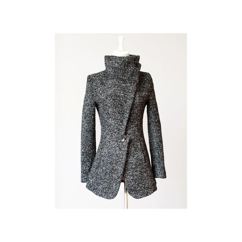 Casaco Inverno em Lã Cinza