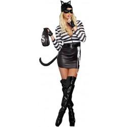 1a1141d96 Fantasia Feminina Mulher Gato Ladra Festa Halloween Carnaval
