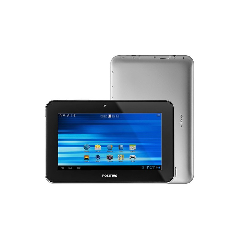"Tablet Positivo YPY L700+ 8GB Wi-fi Tela 7"" Android 4.1 Processador Cortex A9 1.0 GHz - Prata"